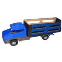 Mini Caminhão Boiadeiro Plástico Madeira Brinquedo Premium