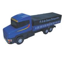 Caminhão Carroceria Plástico Madeira Brinquedo Premium