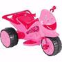 Mini Moto Elétrica Triciclo 6 V Rosa