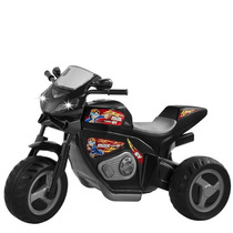 Triciclo Elétrico Infantil Moto Max Turbo Preta - Magic Toys