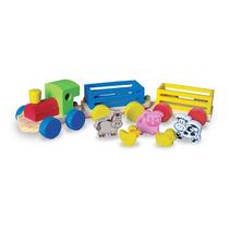 Trem Fazendinha Em Madeira Nina Brinquedos Educativos