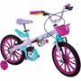 Bicicleta Frozen Disney Aro 16 Bandeirante
