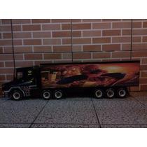 Caminhão Grande De Madeira Artesanal Homem Aranha Brinquedo