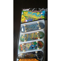 Tech Deck World Industries Skate De Dedo Pack 4 Lacrado!
