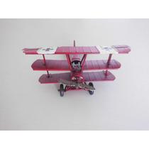 Miniatura Aviao Barao Vermelho C/2 Metralhadoras