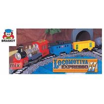 Ferrorama Trem Elétrico Máquina Locomotiva 5,3m Pista Vagões