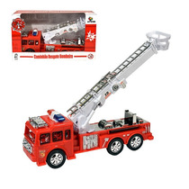 Caminhão Bombeiro Com Som E Luz 23x13x7,5cm Frete Grátis