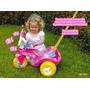 Triciclo Infantil Fofy Com Porta Treco E Rosa - Cotiplás