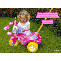 Triciclo Velotrol Infantil Fofy Rosa C/ Porta Treco Cotiplás