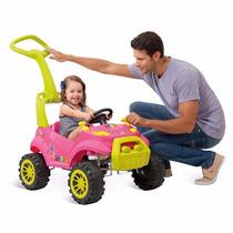 Carrinho Passeio Infantil Bebe Pedal Smart Rosa Bandeirante