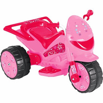Moto Elétrica Infantil Turbo Power Rosa 20w - Brink