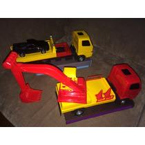 Lote Caminhão De Brinquedo Obras E Caminhão Guincho Não Lixo