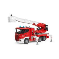 Caminhão Bombeiro Com Escada R Series Brinquedo Bruder 3590