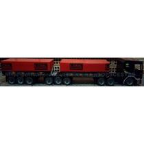Caminhão Grande De Madeira Artesanal Bi Trem Lona Brinquedo