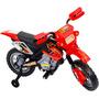 Mini Moto Para Crianças Elétrica Cross - 6v - Vermelha