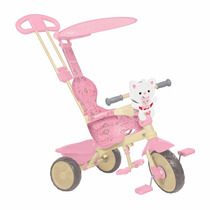 Triciclo Infantil Velobaby Fisher Price Rosa Bandeirante