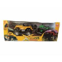 X-terra Fourtrax - Jeep Amarelo + Quadriciclo - Silmar