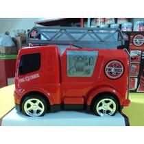 Caminhão Roda Livre Bombeiro Fire Truck - Usual Plastic