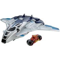 Hot Wheels Vingadores 2 Quinjet Moto Lançador - Mattel