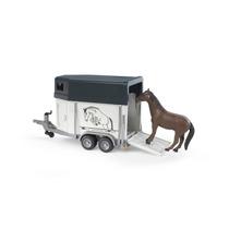 Bruder 2028 - Reboque Transportador De Animais, Incl. Cavalo