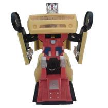 Camaro Amarelo Transformers Transforma Em Robo Com Leds