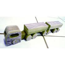 Caminhão De Madeira, Mdf, Bitrem, Super Resistente