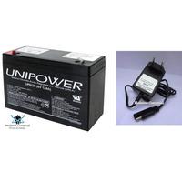 Kit Bateria 6v 12ah + Carregador - Moto Elétrica, Brinquedo