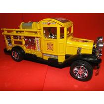 Antigo Caminhão Amarelo Bombeiro Comp.29cm Larg9,5cm Vintage