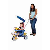 Triciclo Infantil Fit Trike Azul Haste E Som - Magic Toys