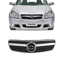 Grade Vectra Preto Com Friso Cromado 2006 A 2010