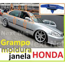Honda Civic Moldura Calha Clipe Fixa Moldura Janela Friso Cr