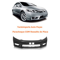 Parachoque New Civic 2009 2010 2011 C/ Ressalto Placa Novo