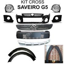 Kit Cross Da Saveiro G5 Parachoque Grades Spoiler Emblema