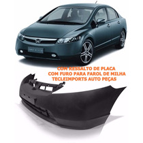 Parachoque Honda New Civic 2006 2007 2008 C/ Ressalto C/furo