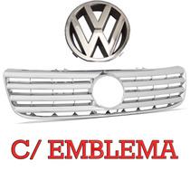 Grade Cromada Santana Quantum 98 99 00 01 02 03 C/ Emblema