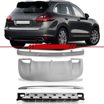 Kit Porsche Cayenne 12 13 Estribo + Overbumper + Rack Teto