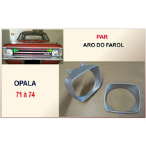 Aro Do Farol Opala 1971 À 1974 Plástico Prata Par Aros