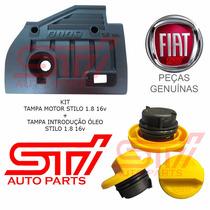 Kit Capa Motor Tampa Óleo Fiat Stilo 1.8 16v Original