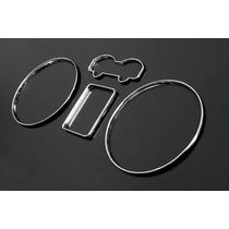 Kit Aros Cromado Painel Vw Golf / Bora / Passat - Anéis-anel
