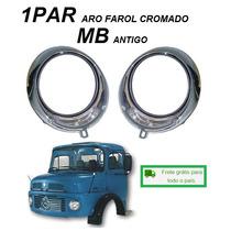 Par Aro Farol Caminhão Mb 1113 Vw Kombi Cromado Tremendao