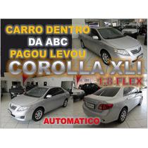 Corolla Xli 1.8 Flex Automatico Prata Ano 2010 - Financio