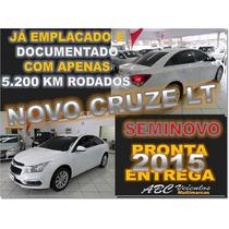Cruze Sedan Lt 1.8 Flex Ano 2015 Com Apenas 5.200 Km Rodados