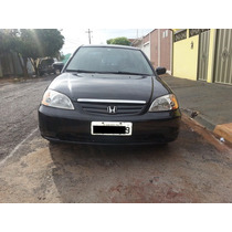 Honda Civic Cedan 1.7 Manual Preto 04 Portas