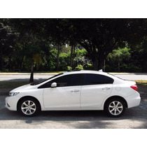 Honda New Civic Exs 2012 Flex Branco Automático/top C/ Teto