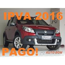 Sandero Stepway 1.6 Automáticoipva 2016 Total Pago!