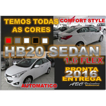Hb20 Sedan Comfort Style Automatico - 2016 - Pronta Entrega