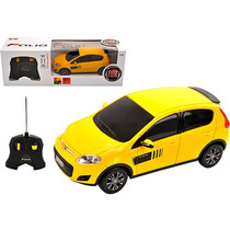 Fiat Novo Palio Controle Remoto 1:18 Cks Amarelo