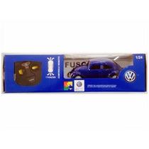 Carro Controle Remoto Volkswagen Fusca Azul 1:24 Cks Toys