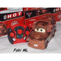 Mater Carros Disney Com Controle Remoto-bateria Recarregável