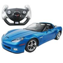 Carrinho De Controle Remoto Corvette C6 Gs Azul